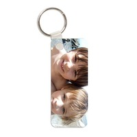 Personalised Rectangular Photo Key Rings.
