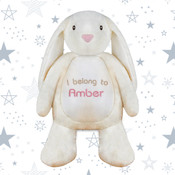 Personalised Embroidered Soft Toy Rabbit